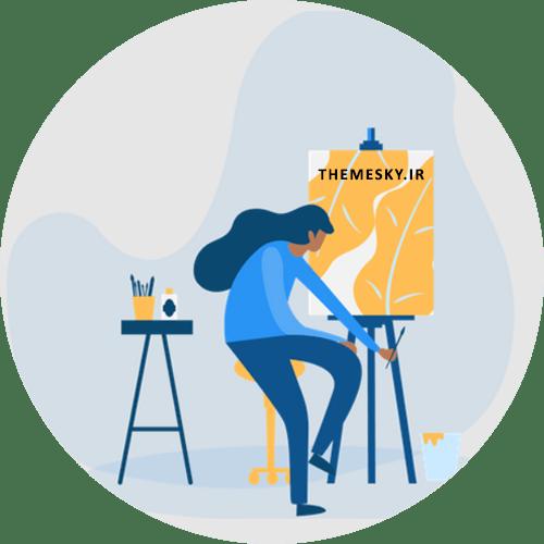 ساخت آنلاین قالب سه ستونه رزبلاگ